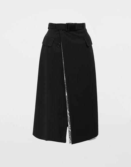 MAISON MARGIELA Double layer cotton-blend midi skirt 3/4 length skirt Woman f