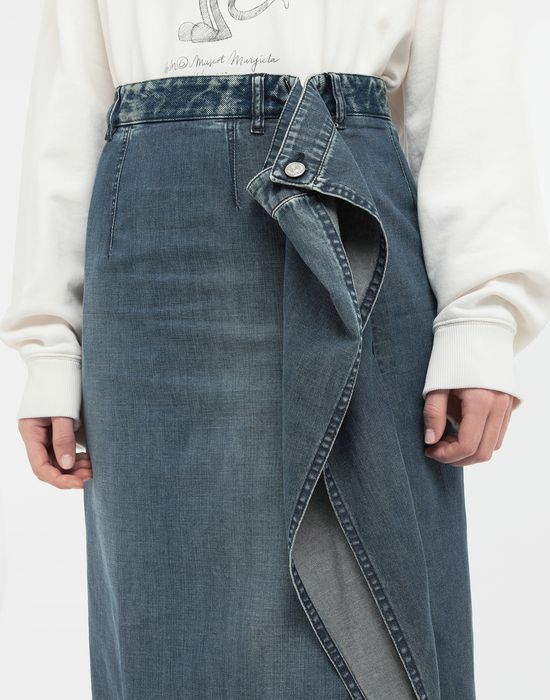 MM6 MAISON MARGIELA Wrap denim skirt Denim skirt [*** pickupInStoreShipping_info ***] a