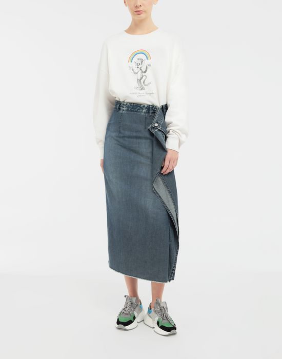 MM6 MAISON MARGIELA Wrap denim skirt Denim skirt [*** pickupInStoreShipping_info ***] d