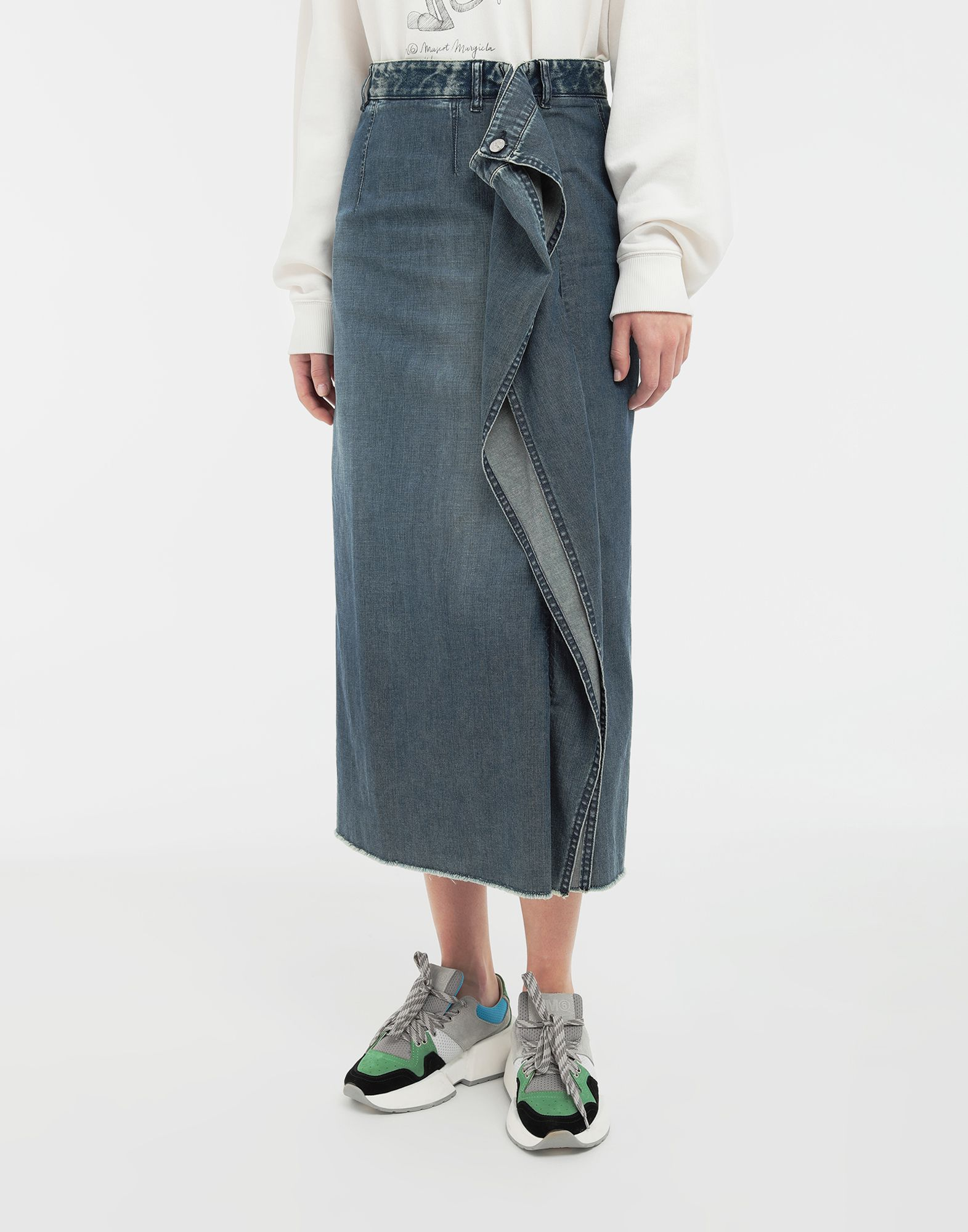MM6 MAISON MARGIELA Wrap denim skirt Denim skirt Woman r