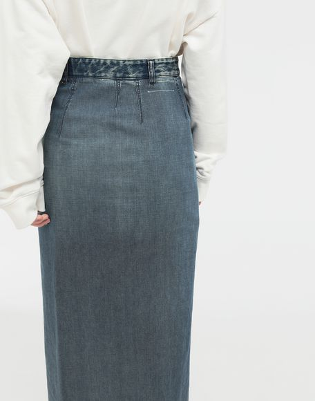 MM6 MAISON MARGIELA Wrap denim skirt Denim skirt Woman b