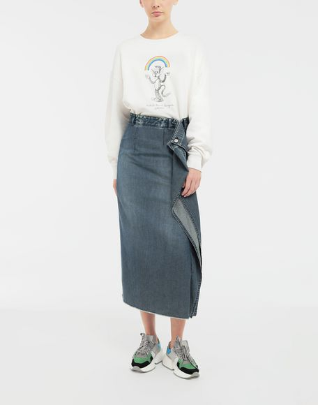 MM6 MAISON MARGIELA Wrap denim skirt Denim skirt Woman d