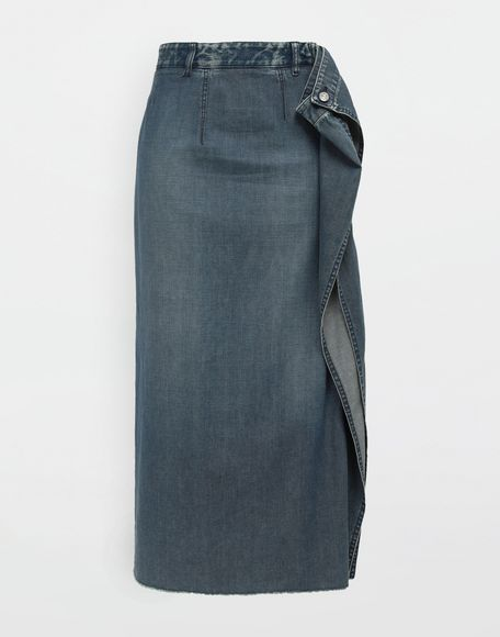MM6 MAISON MARGIELA Wrap denim skirt Denim skirt Woman f