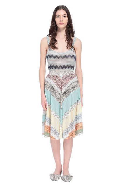 MISSONI Skirt Sky blue Woman - Back