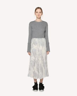 REDValentino Pleated skirt with Cascading Stars print