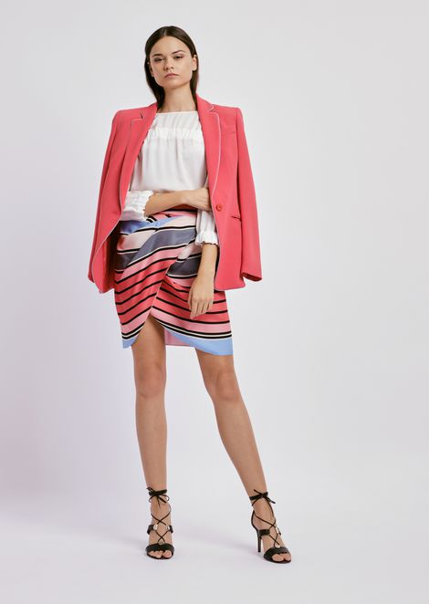 Tulip skirt in colorful mulberry silk