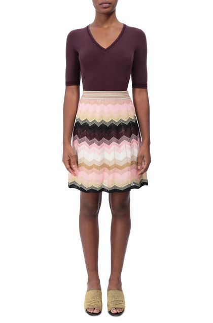 M MISSONI Skirt Light pink Woman - Back