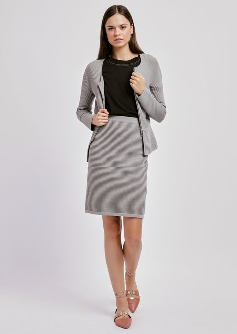 Pencil skirt in stretch viscose ottoman