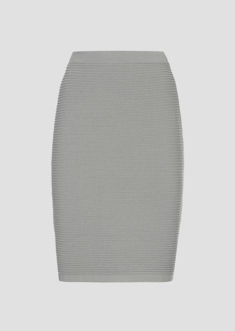 Pencil skirt in stretch viscose ottoman
