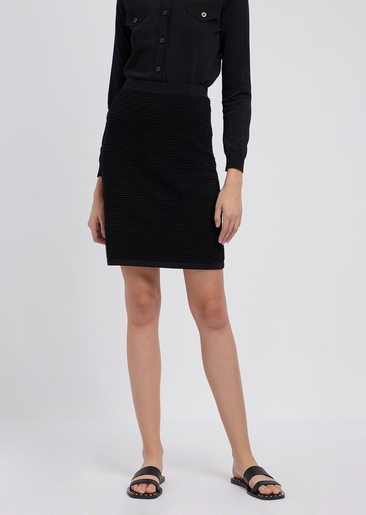 4acc6f483e Pencil skirt in stretch viscose ottoman | Woman | Emporio Armani