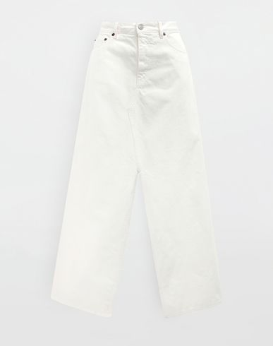 MM6 MAISON MARGIELA Long skirt [*** pickupInStoreShipping_info ***] Open hem denim skirt f
