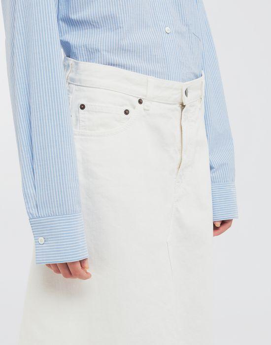 MM6 MAISON MARGIELA Open hem denim skirt Long skirt [*** pickupInStoreShipping_info ***] a