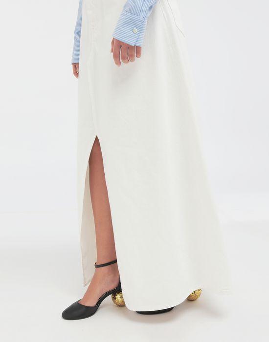 MM6 MAISON MARGIELA オープン ヘム デニム スカート ロングスカート [*** pickupInStoreShipping_info ***] b