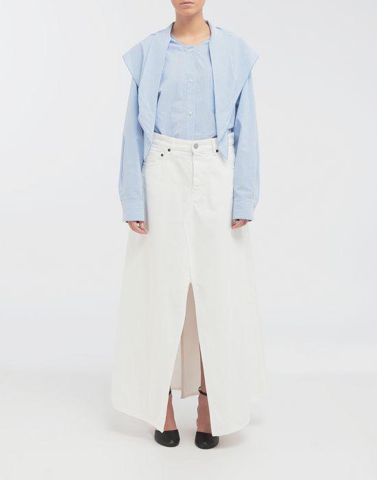 MM6 MAISON MARGIELA Open hem denim skirt Long skirt [*** pickupInStoreShipping_info ***] d