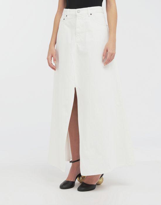 MM6 MAISON MARGIELA Open hem denim skirt Long skirt [*** pickupInStoreShipping_info ***] r