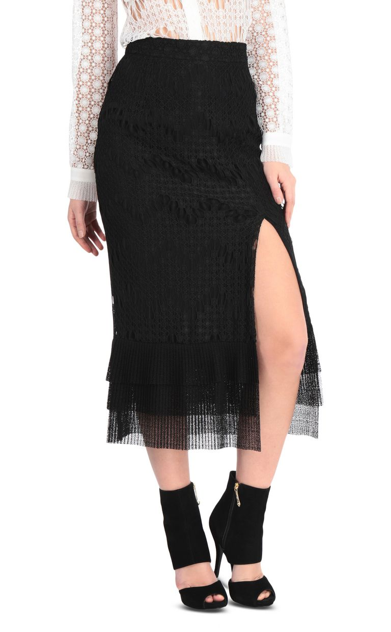 JUST CAVALLI Longline flounced skirt Skirt Woman f