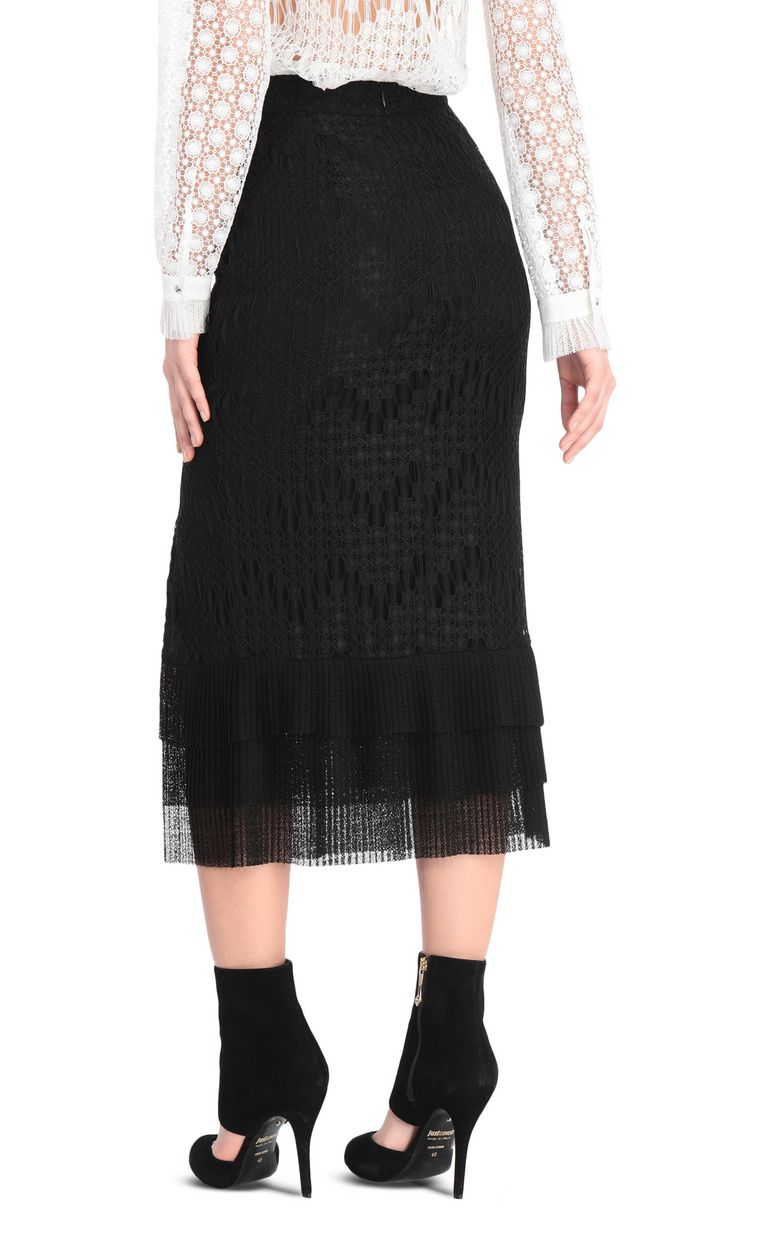 JUST CAVALLI Longline flounced skirt Skirt Woman r