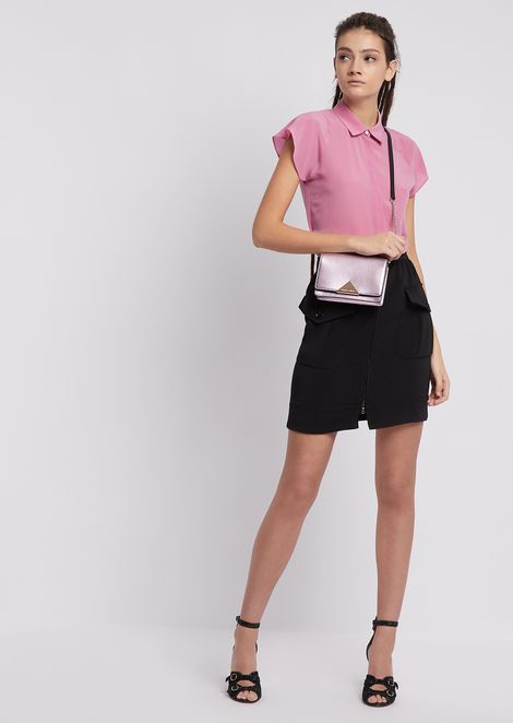 Cady skirt with applied front pockets