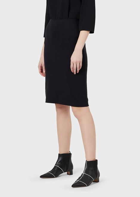 Pencil skirt made of Milano stretch-knit fabric