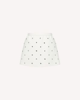 REDValentino Fused Crepe shorts with rhinestone detail