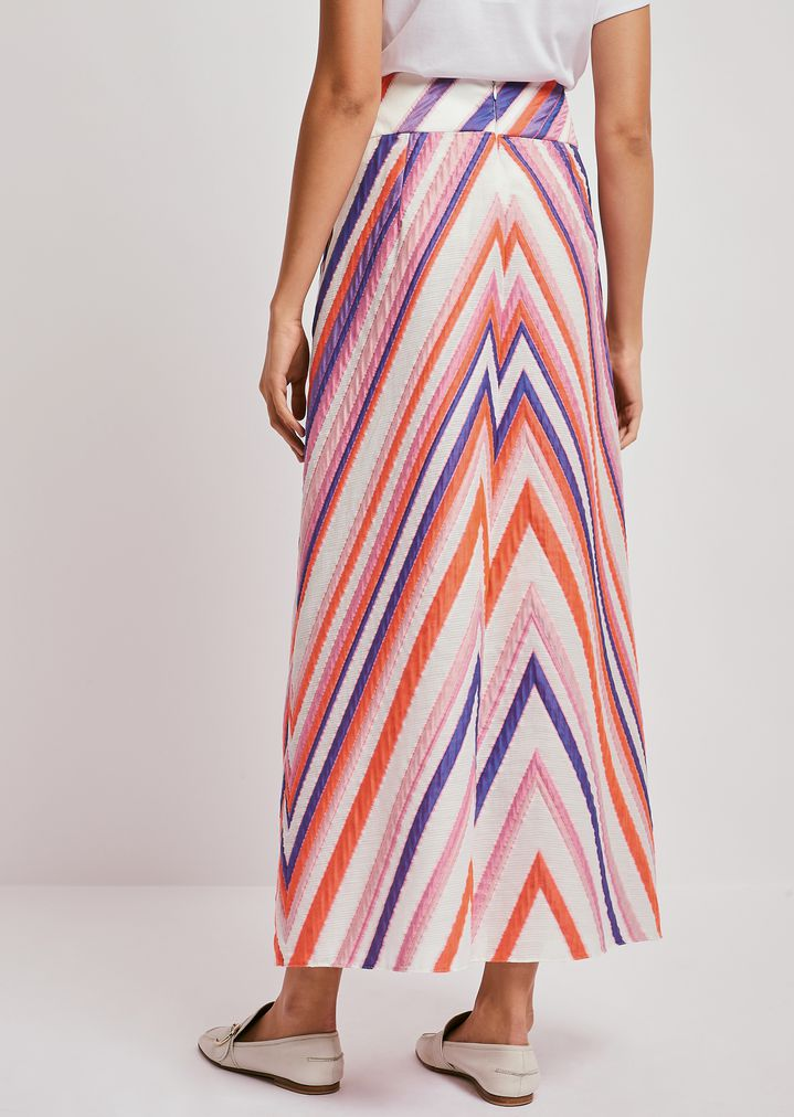 e8bce1715f Maxi skirt in jacquard fabric with macro chevrons | Woman | Emporio ...