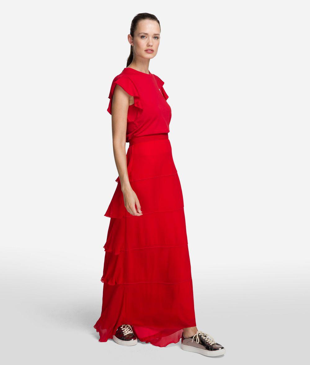 KARL LAGERFELD Layered Maxi Skirt Skirt Woman d