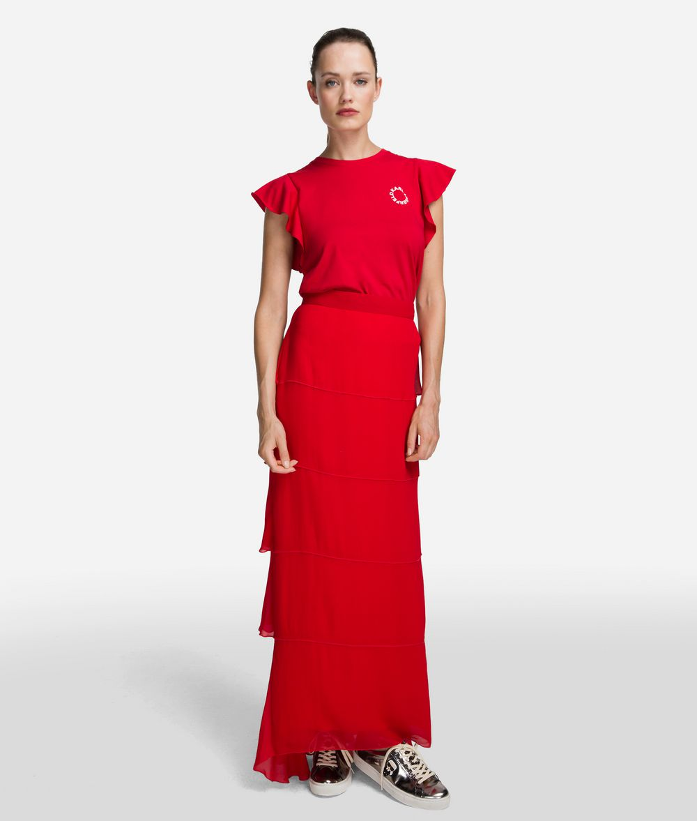 KARL LAGERFELD Layered Maxi Skirt Skirt Woman f