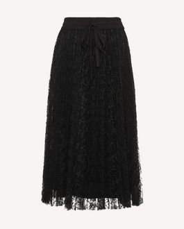 REDValentino Pleated Lace skirt