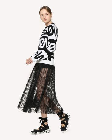 REDValentino RR3RA00BQIM 0NO Midi Skirt Woman d