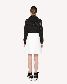 REDValentino A-line skirt in Techno peacoat