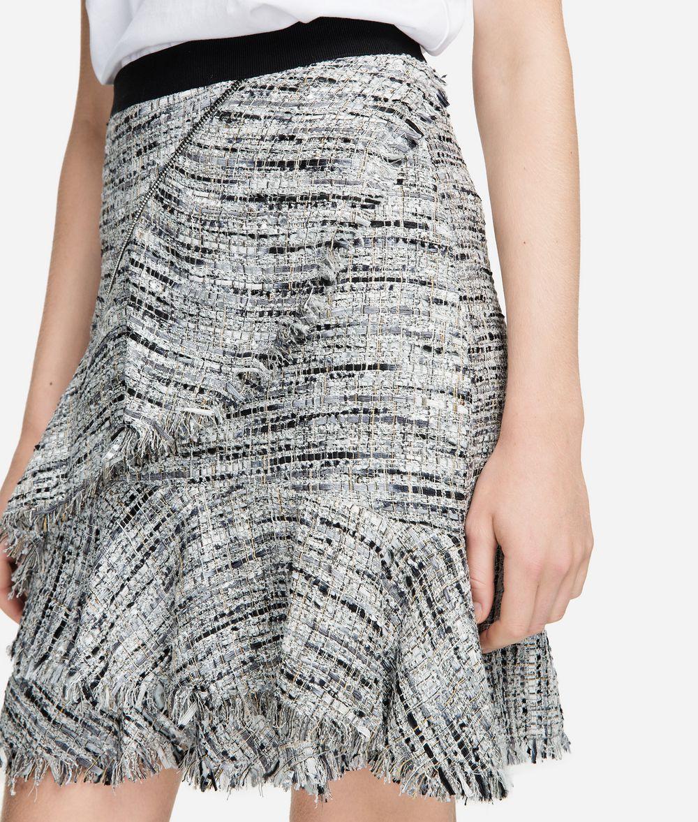 KARL LAGERFELD Bouclé Skirt with Ruffles Skirt Woman d