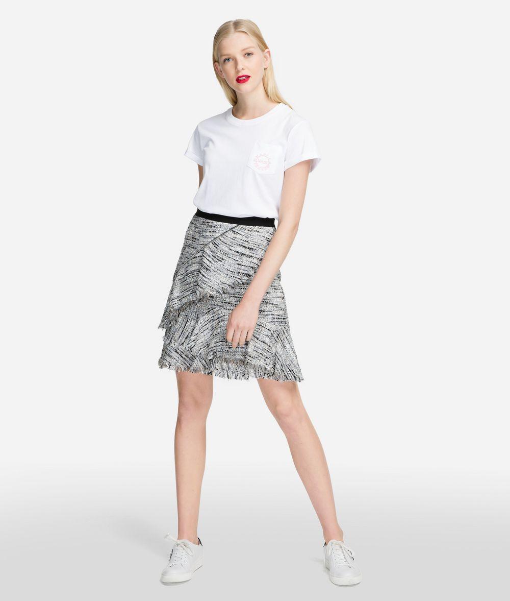 KARL LAGERFELD Bouclé Skirt with Ruffles Skirt Woman f