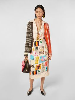 Marni Tulip skirt in viscose cloth with Venere print Woman