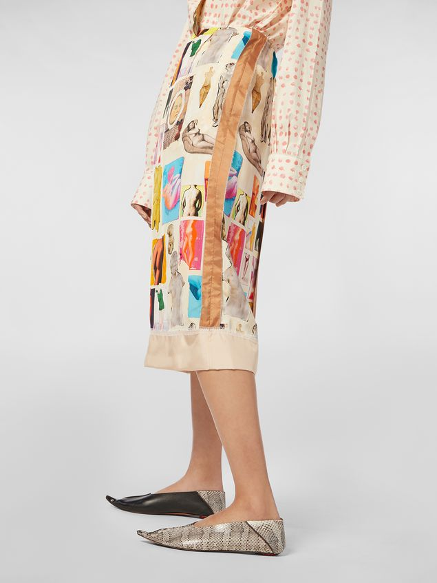 Marni Tulip skirt in viscose cloth with Venere print Woman - 5