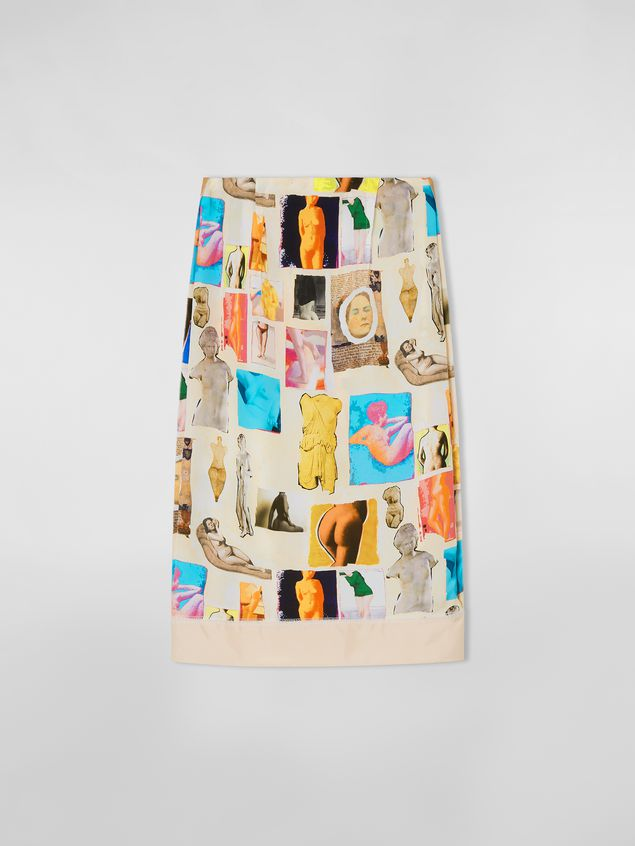 Marni Tulip skirt in viscose cloth with Venere print Woman - 2