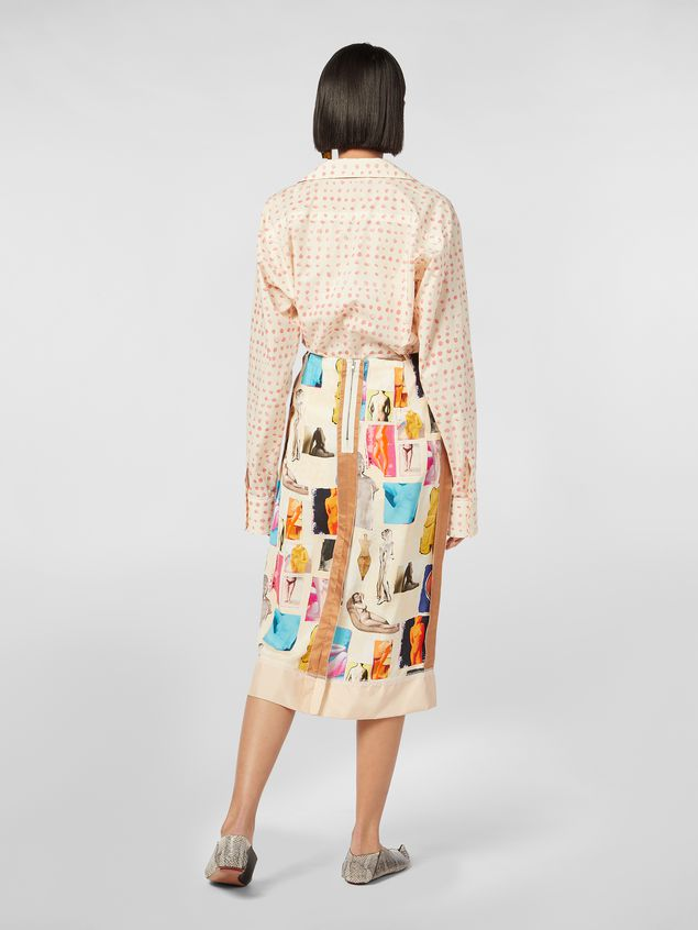 Marni Tulip skirt in viscose cloth with Venere print Woman - 3