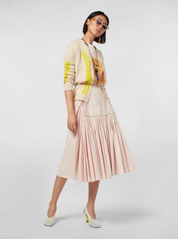 Marni Puckered skirt in cotton poplin Woman