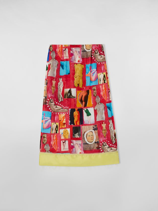 Marni Tulip skirt with slit in viscose cloth with Venere print  Woman - 2