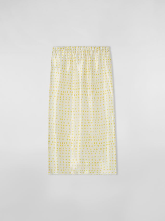 Marni Yellow tulip skirt in rayon satin with Cerere print Woman - 2
