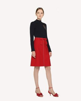 REDValentino Cady Tech skirt with dotted line embroidery