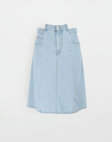 MAISON MARGIELA Décortiqué denim midi skirt Denim skirt [*** pickupInStoreShipping_info ***] f