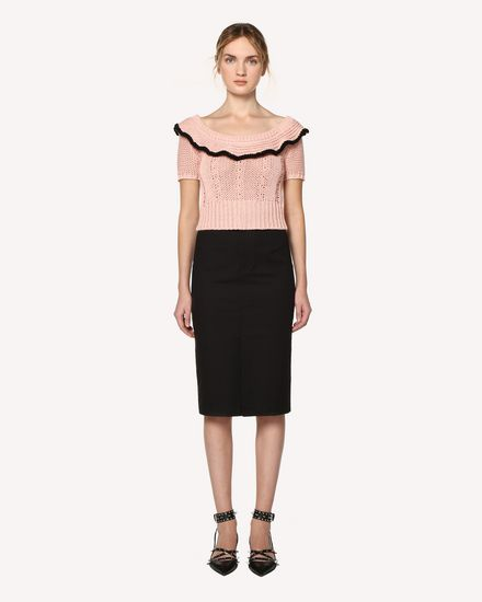 REDValentino Gonna midi Donna RR0RAB15VHE 0NO f