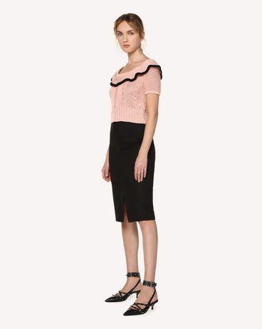 REDValentino RR0RAB15VHE 0NO Midi skirt Woman d
