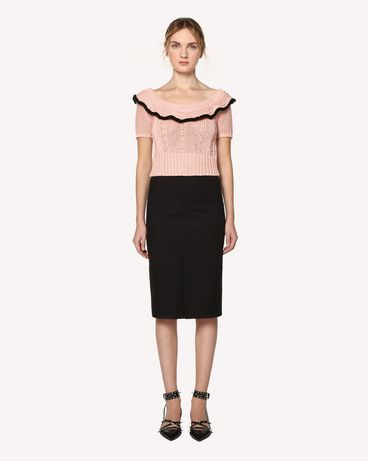 REDValentino RR0RAB15VHE 0NO Midi skirt Woman f