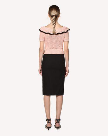 REDValentino RR0RAB15VHE 0NO Midi skirt Woman r