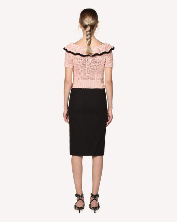 REDValentino 弹力微细帆布直筒半裙