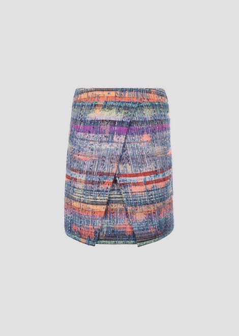 Multicolor tweed skirt