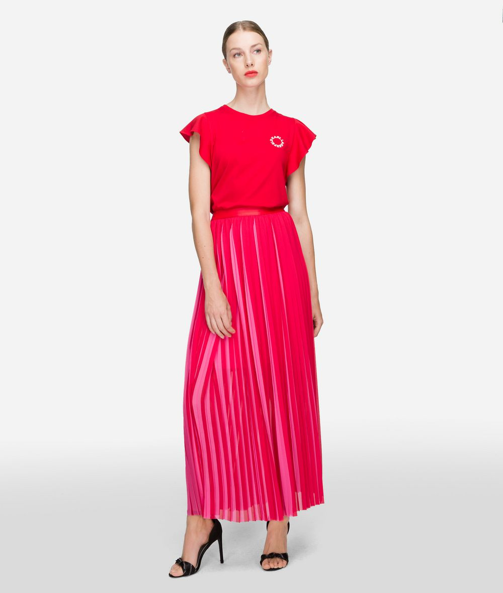 KARL LAGERFELD Pleated Maxi Skirt Skirt Woman f