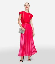 KARL LAGERFELD Pleated Maxi Skirt 9_f