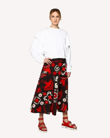 REDValentino RR0RAA75SQU 0NO Printed skirt Woman d